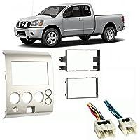 Fits Nissan Titan 06-07 w/o Dual Zone Climate DDIN Harness Radio Dash Kit