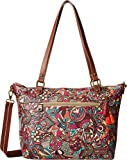 Sakroots City Satchel, Berry Spirit Desert