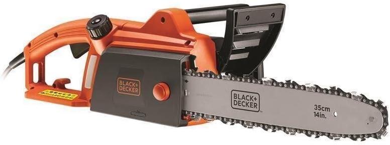 BLACK+DECKER CS1835-QS - Motosierra eléctrica 1800W, espada 35 cm, velocidad 12.5 m/s