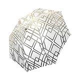 Custom Gold And Grey Geo Compact Folding Travel Umbrella