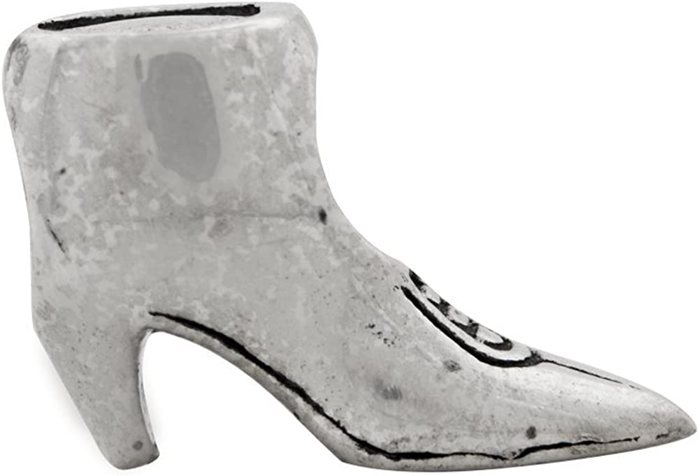 13.6mm x 10mm Solid 925 Sterling Silver Reflections Boot Bead