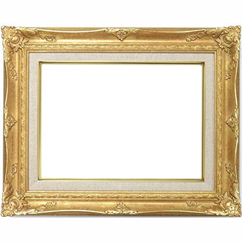 大額 油彩用額縁 9232N アクリル仕様 壁用フック付 (F4, ゴールド) B01MTXJ499 F4|ゴールド ゴールド F4