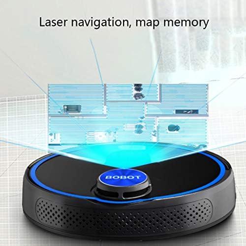 Robot de balayage Laser, Robot de Lavage entièrement Automatique Intelligent à la Maison, télécommande APP, adaptée aux Poils d\'animaux, Sol Dur, Tapis