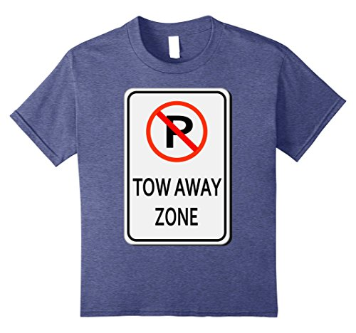 Last Minute School Appropriate Halloween Costumes (Kids Tow Away Zone No Parking Sign Easy Halloween Costume T-Shirt 8 Heather Blue)