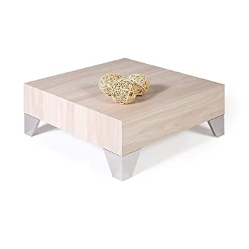 Mobili Fiver Table Basse Evolution 60 Orme Perle 60 X 60 X 24 Cm Made In Italy