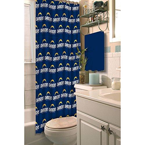 - Northwest NFL San Diego Chargers Decorative Shower Curtain