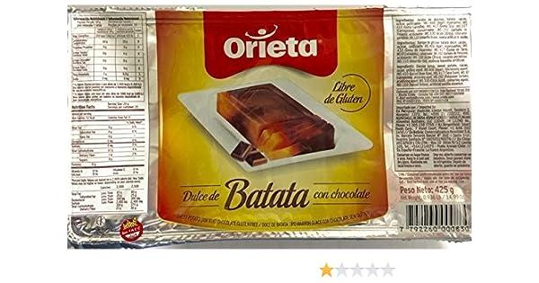 Amazon.com : Orieta Dulce de Batata con Chocolate . Sweet Potato Jam with Chocolate 425g (14.99 Ounce) : Grocery & Gourmet Food