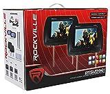 "Rockville RTSVD961-BK 9"" Black Touchscreen Dual"