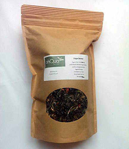Oregon Summer (White Tea with Peaches, Blueberries, Mint) Tea, Organic & Fair-Trade (1/2 Pound Bag)