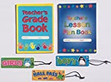 Teacher Grade Lesson Plan Book Teaching School Planner Student Hall Passes Classroom Homeschool Supplies Gifts 5 Piece Set