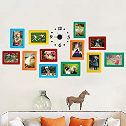 Set of 14 Colorful Magnetic Picture Frames 4 X 5 Inches Photo Magnets for Refrigerator Perfect for Family Photos and Memories (Single-layer)