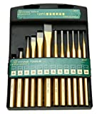 8milelake 12pcs Professional Mechanics Punch and Chisel Set Taper Centre Pin Punches Heavy Duty