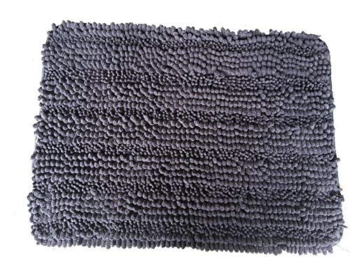 Norwex Lim Chenille Bath Mat, Spa Stone Grey (Limited Edition)