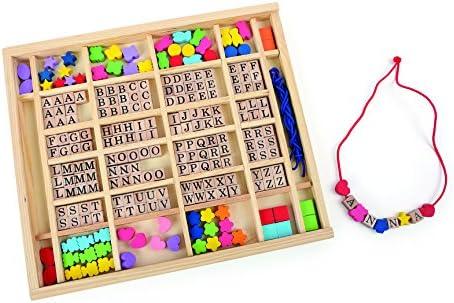 Small Foot- Letras y Perlas para enhebrar en Caja Abalorios ...