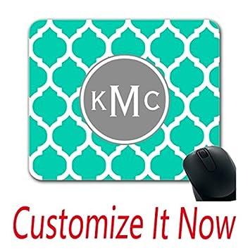 amazon com custom online fun mouse pads teal gray moroccan lattice