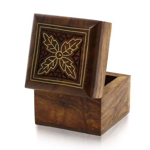 Wooden Box for Small Jewelry Gifts Rings Earrings Toe Rings Cufflinks