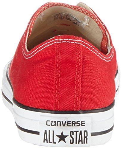 Converse Chuck Taylor All Star Ox, Zapatillas de Gimnasia para Hombre Rojo (Red)