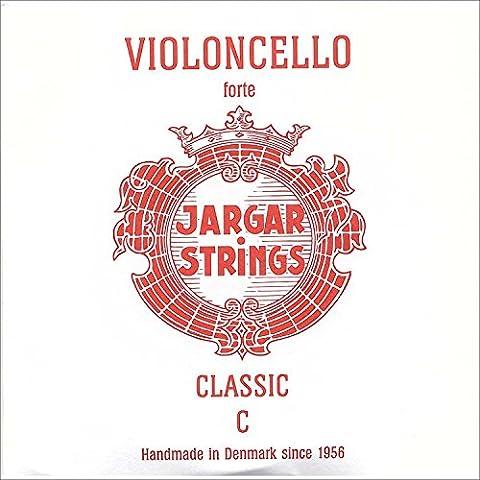Jargar 4/4 Cello C String Thick(Forte) Chromesteel (Jargar Cello Strings Forte)