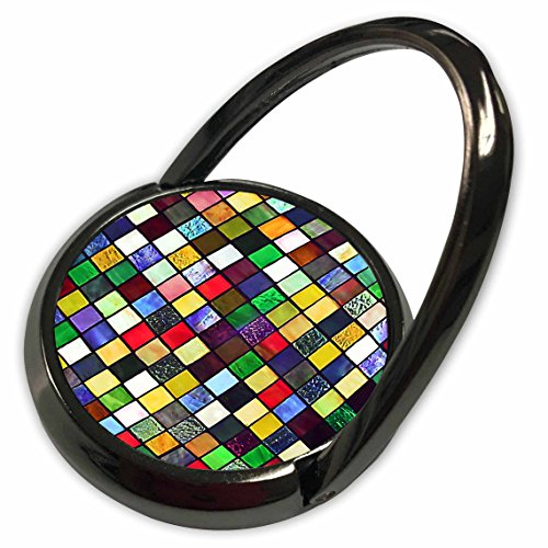 3dRose Lee Hiller Designs Mosaic Tiles - Image of Multi Color Glass Mosaic Tile Panel Print - Phone Ring (phr_32415_1)