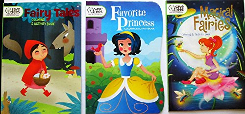 DBK Gifts Kids Coloring Book Pre School Elementary Grades | Educational (Fairy Tale Princess Fairies) -
