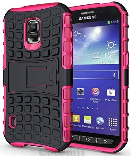 Cocomii Grenade Armor Galaxy S5 Active Case New [Heavy Duty] Premium Tactical Grip Kickstand Shockproof Bumper [Military Defender] Full Body Rugged Cover for Samsung Galaxy S5 Active (G.Pink)