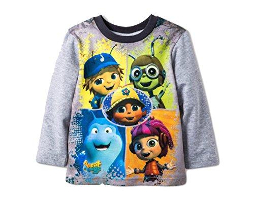 Bugs Long Sleeve Shirt (Beat Bugs Toddler Boys Shirt Long Sleeve Jay Crick Walter Buzz Kuma Character Tee (5T))