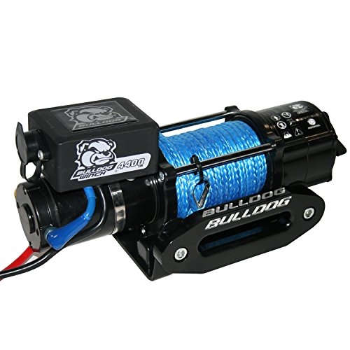 BULLDOG Winch 15020 Trailer Winch (4400lb Trailer/Utility with 50 Ft. Synthetic Rope, CNC Billet Aluminum Hawse Fairlead, Mounting Plate, Low Profile), 1 Pack by Bulldog Winch (Image #1)