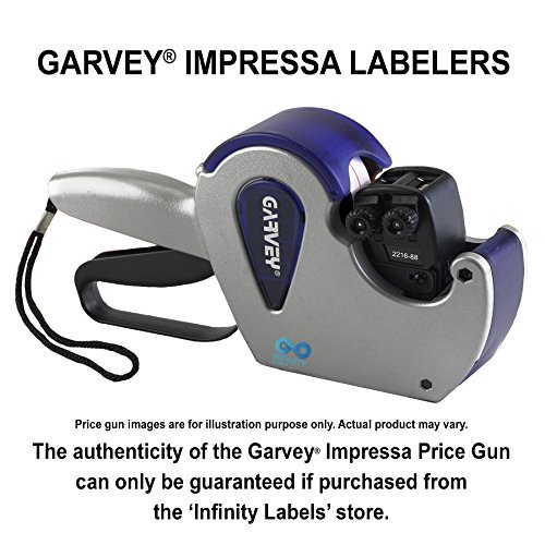 Impressa Price Guns [4 Labeler Value Pack]: 2112-7 Layout #1709 [ONE LINE] by Infinity Labels