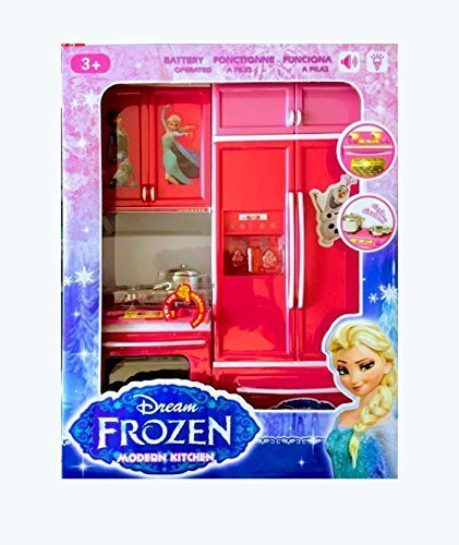 Buy Frozen Modern Kitchen Set With Music And Lights Barbie Kitchen