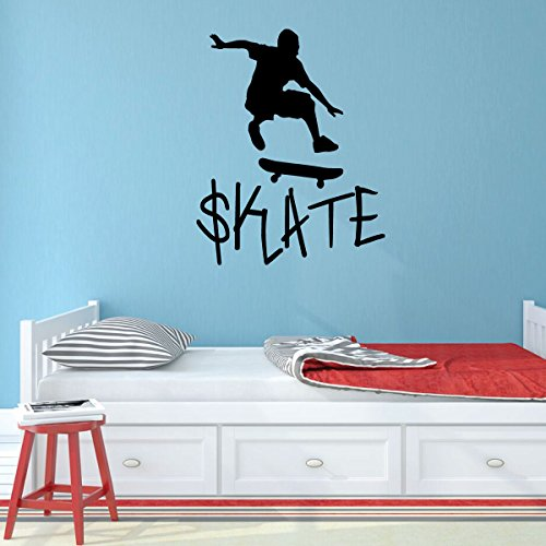 Skateboard Vinyl Wall Decor - Skate - Skater Decal for Home Decor, Bedroom or - Venue Skateboards