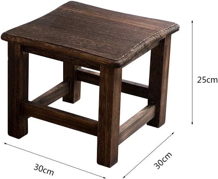 Storage Benches Dressing Stool Footstool Solid Wood Square Stool Seat Family Thicken Dining Table Bench Color Black1 Amazon Co Uk Kitchen Home