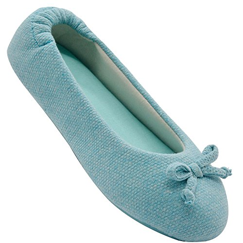 Closed On Ballerina Breathable Womens Toe Wishcotton Slipper Slippers Blue Slip gUSIq0