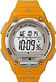Timex Men's T5K585 Ironman Traditional Shock Steel 30-Lap Orange Resin Strap Watch