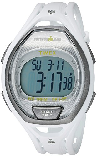 Price comparison product image Timex Unisex TW5K96200 Ironman Sleek 50 White Full-Size Resin Strap Watch