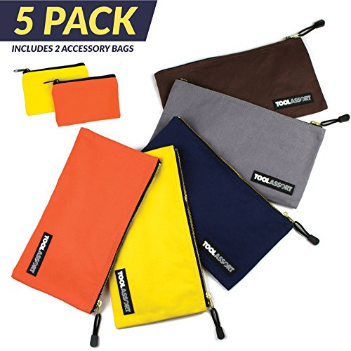 """Canvas Tool Pouch, 5 Pack 