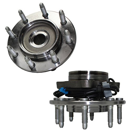 (Detroit Axle -2 Front Driver and Passenger Side Wheel Hub and Bearing Assembly for 4x4 8 Lug fits 1999-2007 Chevy Silverado Avalanche Suburban GMC Sierra Yukon Hummer H2 1500HD 2500)