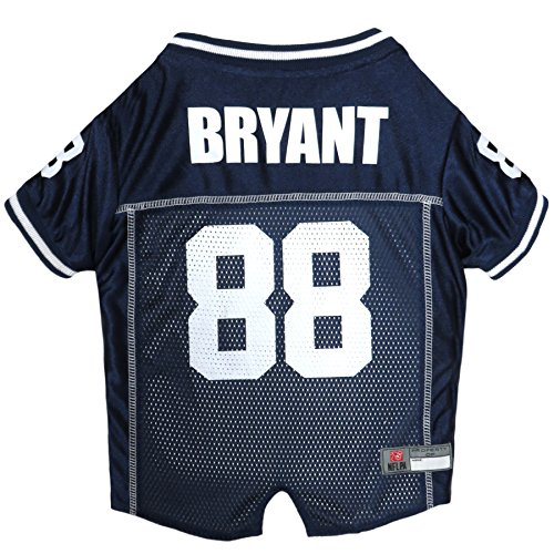- NFLPA Dog Jersey - DEZ Bryant #88 Pet Jersey - NFL Dallas Cowboys Mesh Jersey, Small