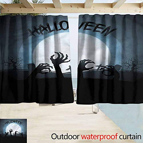 MaryMunger Doorway Curtain Halloween Zombie Hands Out Grave Drapes for Outdoor Decor W63x45L Inches]()