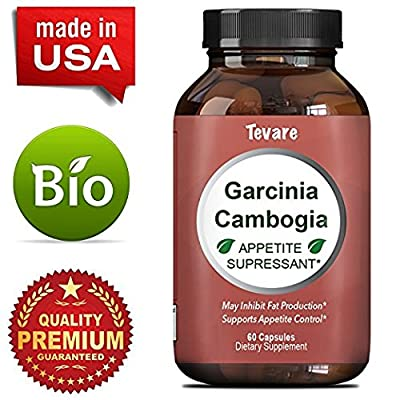 Lose Belly Fat - Garcinia Cambogia - 95% Pure Extract - Dietary Supplement - For Men & For Women - Weight Loss + Boost Metabolism - Detox + Cleanse & Appetite Suppressant - Created By Tevare