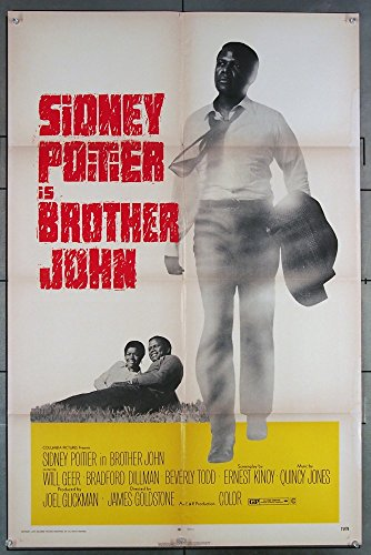 Brother John (1971) Original U.S. One-Sheet Movie Poster 27×41 Folded Good Condition Average Used SIDNEY POITIER Film Directed by JAMES GOLDSTONE