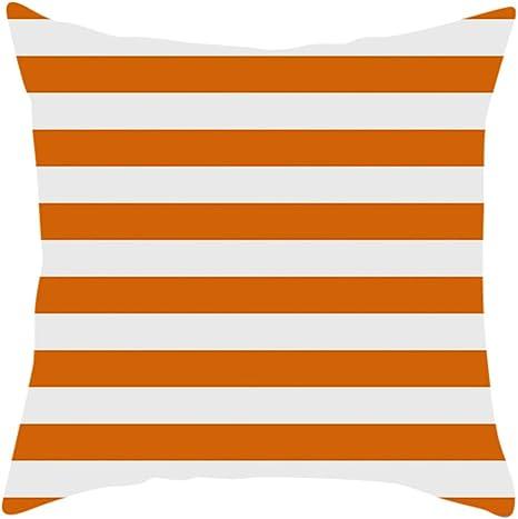 Woaills 18 x 18 Happy Fall Thanksgiving Day Linen Pillow Cushion Home Decor Cushion Case Turkey I