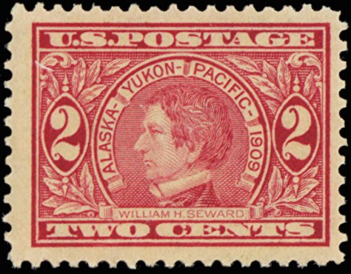1909 2 Cent Alaska-Yukon Pacific Exposition Postage Stamp Scott 370 By USPS ()