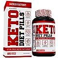 Keto Diet Pills - Weight Loss Supplement for The Ketogenic Diet - Fat Burner, Appetite Suppressant, Electrolytes - Premium Fat Burning L-Carnitine, Chromax, Ashwagandha, EGCG, More - 120 Veggie Pills