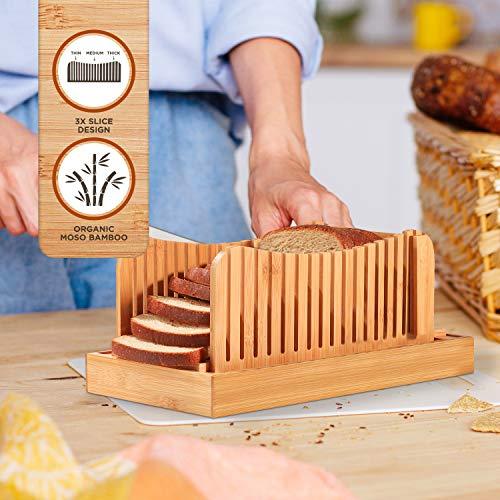 Bamboo bread cutting guide