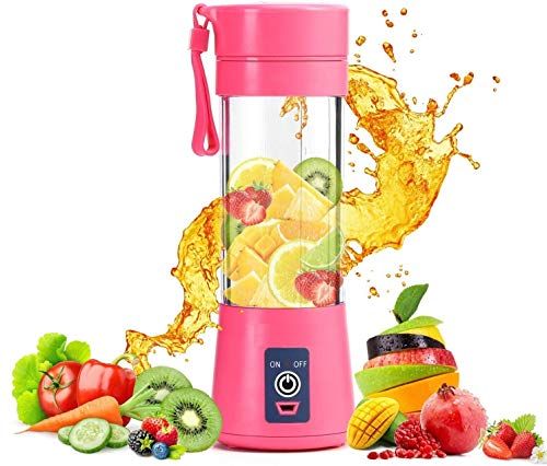 AMAZON'S BRAND ROYAL STEP Portable Electric USB Juice Maker Juicer Bottle Blender Grinder Mixer,4 Blades Rechargeable Bottle with (Multi color)