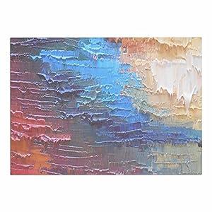 "hot sale KESS InHouse CS1060ADM02 Carol Schiff ""Four Seasons - Autumn"" Maroon Teal Painting Dog Place Mat, 24"" x 15"""