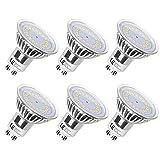 LE GU10 LED Bulbs, 50W Halogen Bulbs Equivalent, 3.5W ,350lm, 120° Beam Angle, 5000K Daylight White, MR16, LED Light Bulbs, Pack of 6 Units