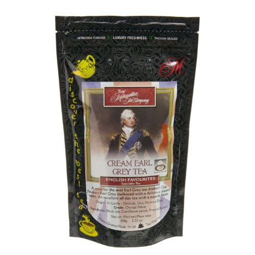 Metropolitan Tea Discovery Loose Tea Pack, Cream Earl Grey English Favorite, 100gm