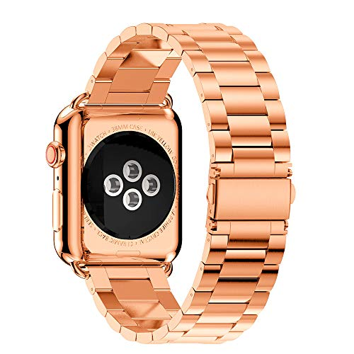 (Amaping Stainless Steel Watch Band Replacement Strap For Apple Watch Series 4 40mm (Rose Gold))