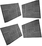 (96pk) 2.5''x12''x12'' charcoal EGG CRATE foam dampening acoustic foam studio equipment noise reduction 3 inch blocking foam sound isolation foam (2.5 EGG CRATE)